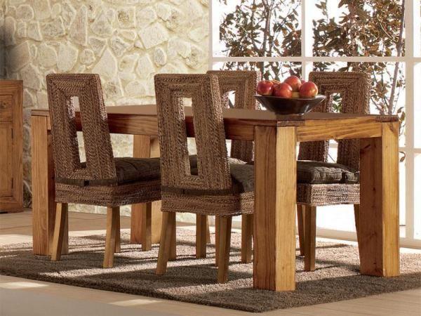 decorar uma sala de jantar rústica