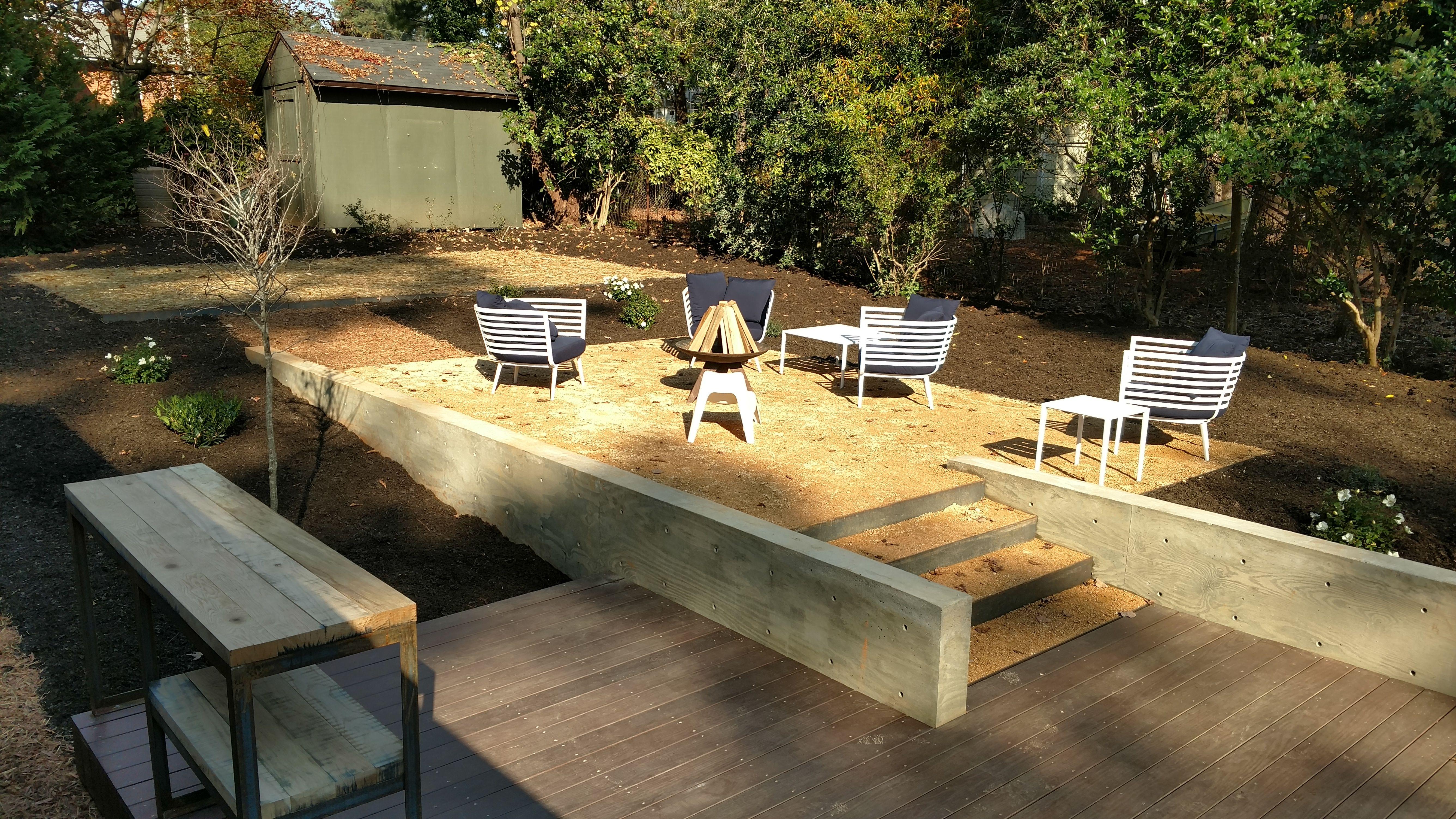 Aedan Workshop Concrete Retaining Wall Patio Deck Furniture Patio Concrete Retaining Walls Outdoor Furniture Sets