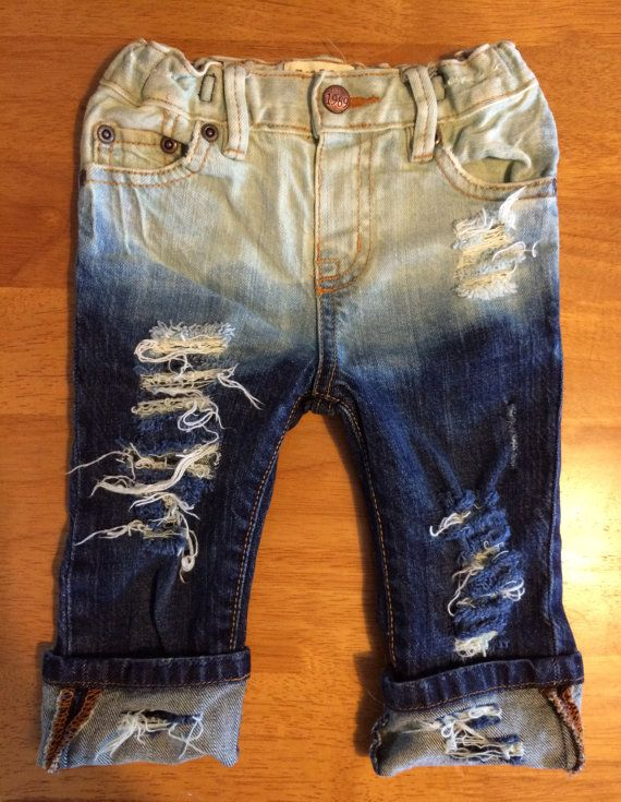 718c9fe36 baby toddler unisex destroyed bleach denim skinny by OliversDenim ...