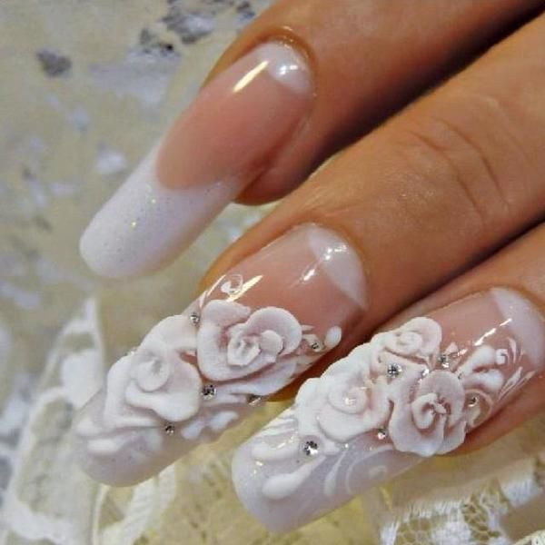 Japanese Nail Art 3d Flowers Remind Me Of Icing On A Cake Nail