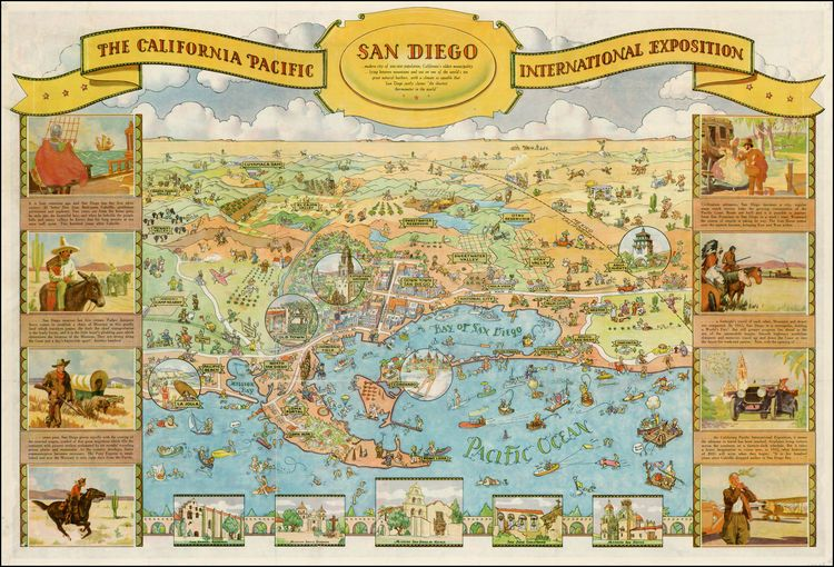 san diego the california pacific international exposition barry lawrence ruderman antique maps inc