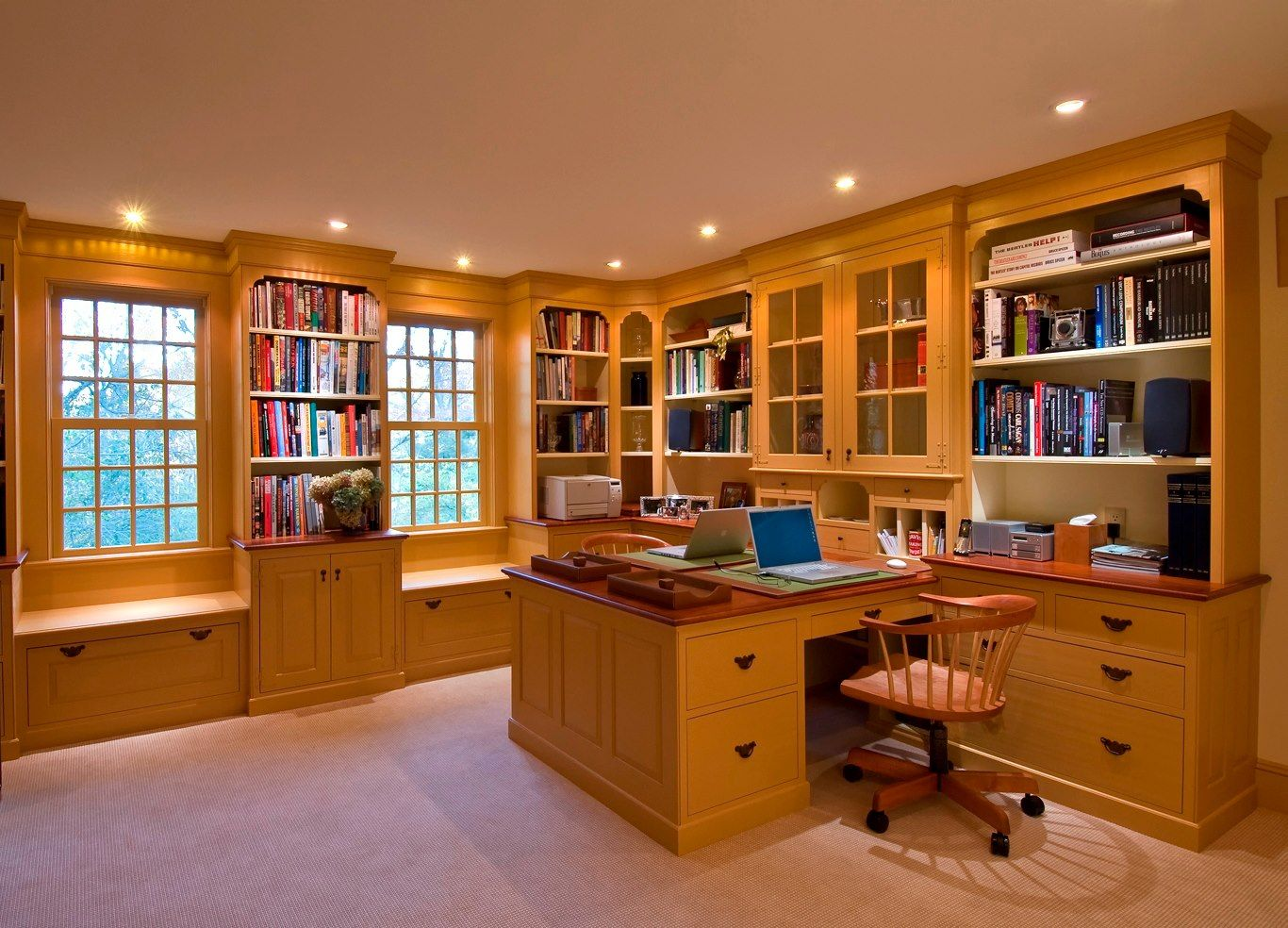 What a great home office for two people. Organize