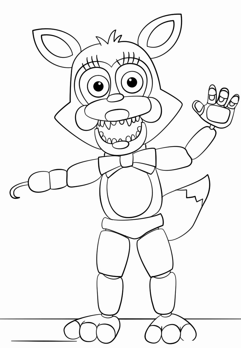 Funtime Foxy Coloring Page Luxury Free Printable Five Nights At Freddy S Fnaf Coloring Pages In 2020 Fnaf Coloring Pages Coloring Pages Coloring Books