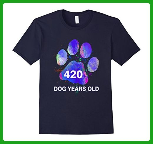 Mens Awesome Funny Dog Years Old T Shirt 60th Birthday Gift Small Navy