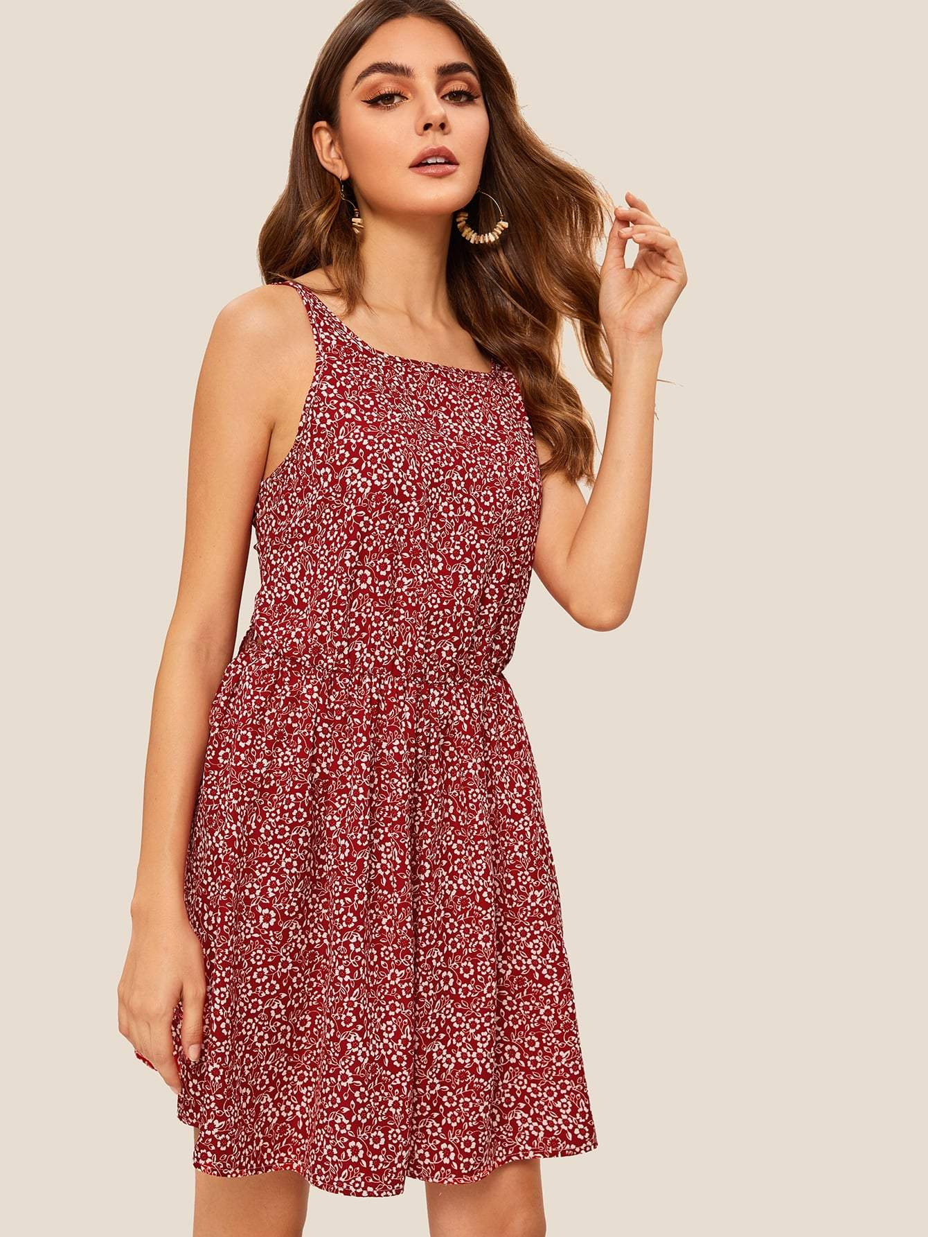 514dfbe343 Tie Back Ditsy Floral Cami Sundress in 2019