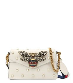 Gucci White \u0027Broadway\u0027 Beetle Bag