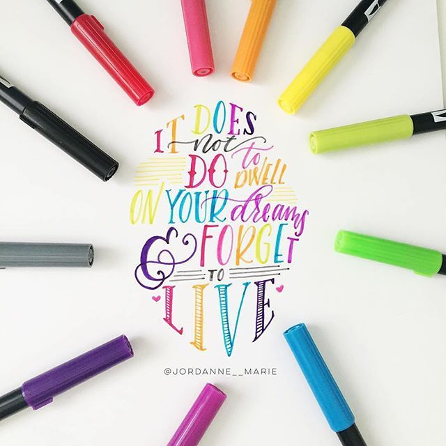 lovely rainbow lettering by the super talented jordanne marie on