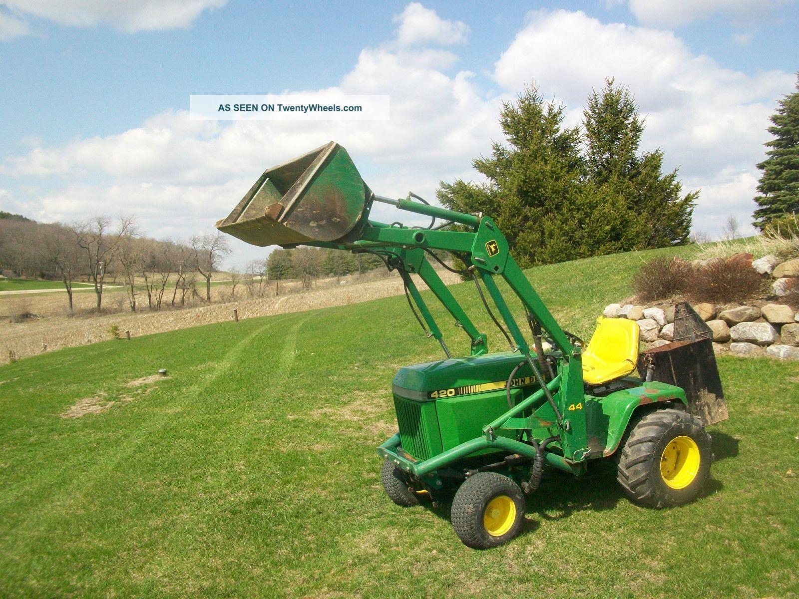 John Deere 420 Garden Tractor John Deere 420 Garden Tractor 3 Point Hitch Jd 44 Hydraulic