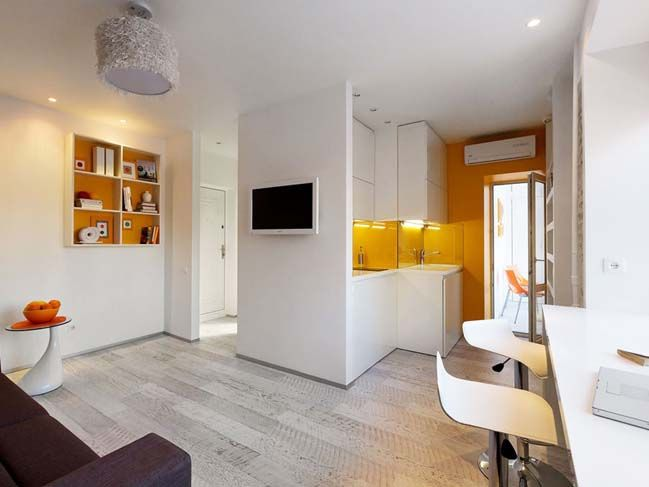 Tiny Apartment 22sqm In Kiev With Images Apartment Interior