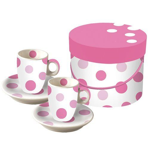 Paperproducts Design Spot Pink Dessert Plate, Set of 2 by Paperproducts Design. $16.45. Set of 2 spot pink dessert plates. Microwave and dishwasher safe. 8-1/4-Inch round. Made of high quality porcelain. Each plate features colorful, bright pink dots. Paperproducts Design Dessert Plate Set features colorful, bright pink dots. Set of 2 porcelain plates are packaged in coordinating round box that is perfect for gift giving or storage. Each plate measures 8-1/4-inch round.