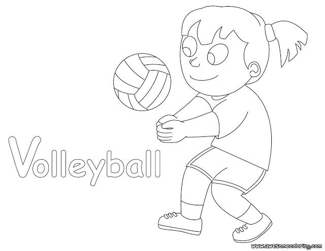 Volleyball Coloring Page Sports Coloring Pages Coloring Pages Printable Sports