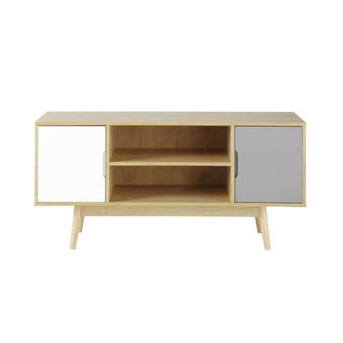 Mueble de TV vintage de madera An. 120 cm   maisons du monde ...