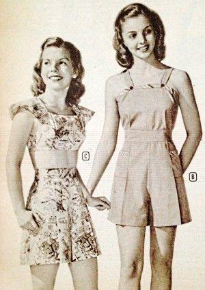 1940s Teenage Fashion Girls Vintage Playsuit Fashion Teenage Fashion Teenage Girls