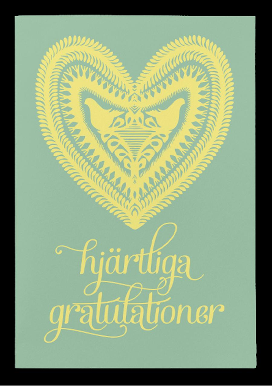 gratulationer kort Hjärtliga gratulationer. kort & kuvert gratulationer kort