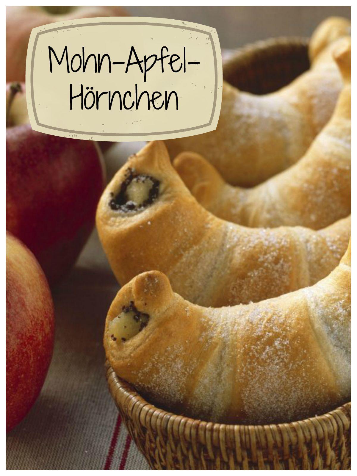 Dies Blitzrezept ist eine tolle Frühstücksidee: Mohn-Apfel-Hörnchen | http://eatsmarter.de/rezepte/mohn-apfel-hoernchen