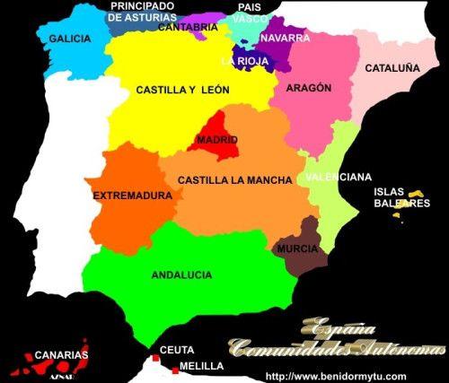 Mapas De España Físicos Políticos Y Mudos Mapa De España Mapa Fisico De España Comunidades Autonomas De Espana