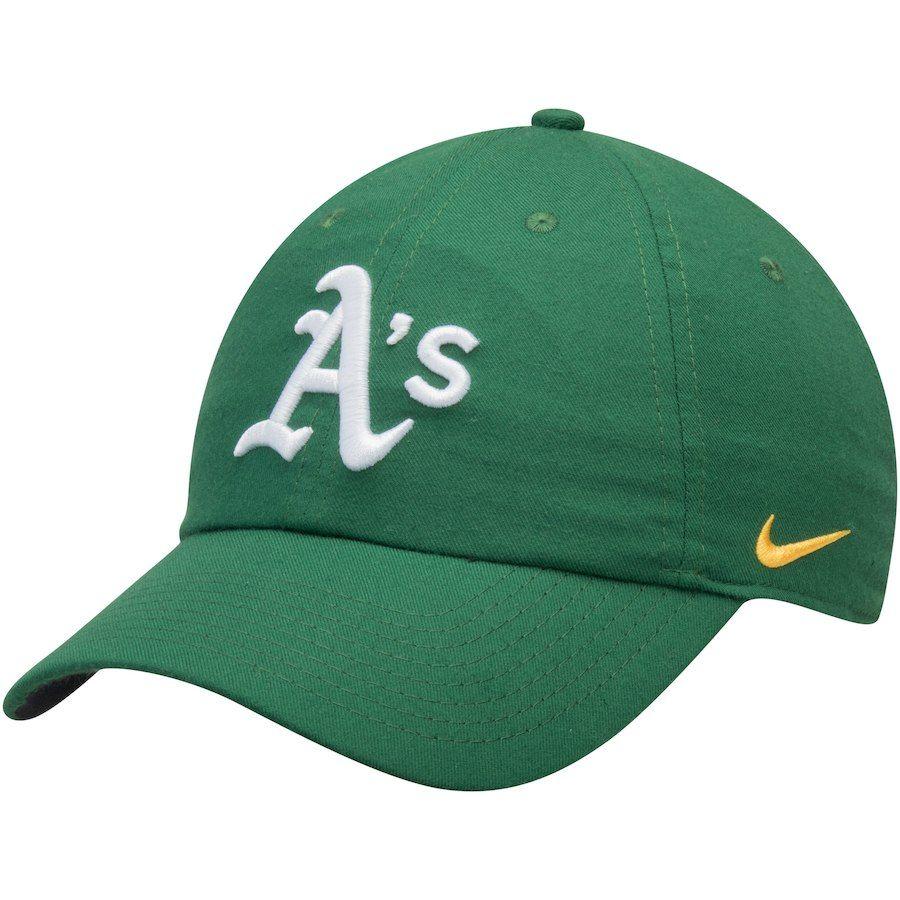 new concept 2a7de b2909 Men s Oakland Athletics Nike Green Heritage 86 Stadium Performance  Adjustable Hat, Your Price   25.99