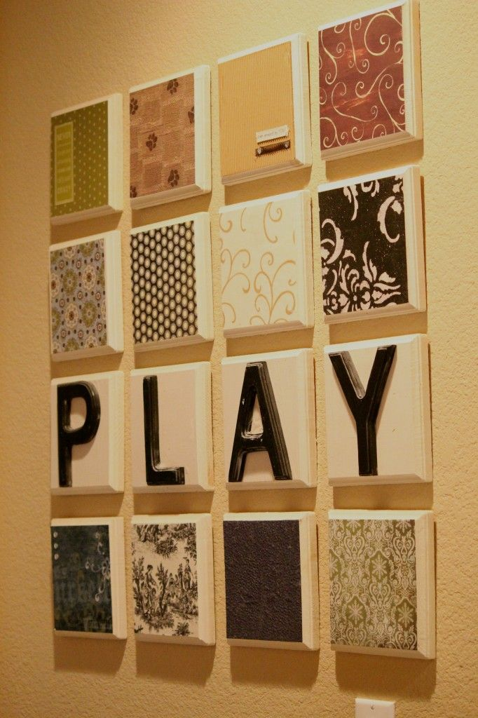 $1 wood plaques at michaels and add letters on top | Crafting ideas ...