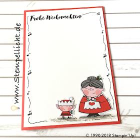 Weihnachtskarten Katalog.Stempellicht Weihnachtskarten Weihnachtswerkstatt Mit Doodle Rand