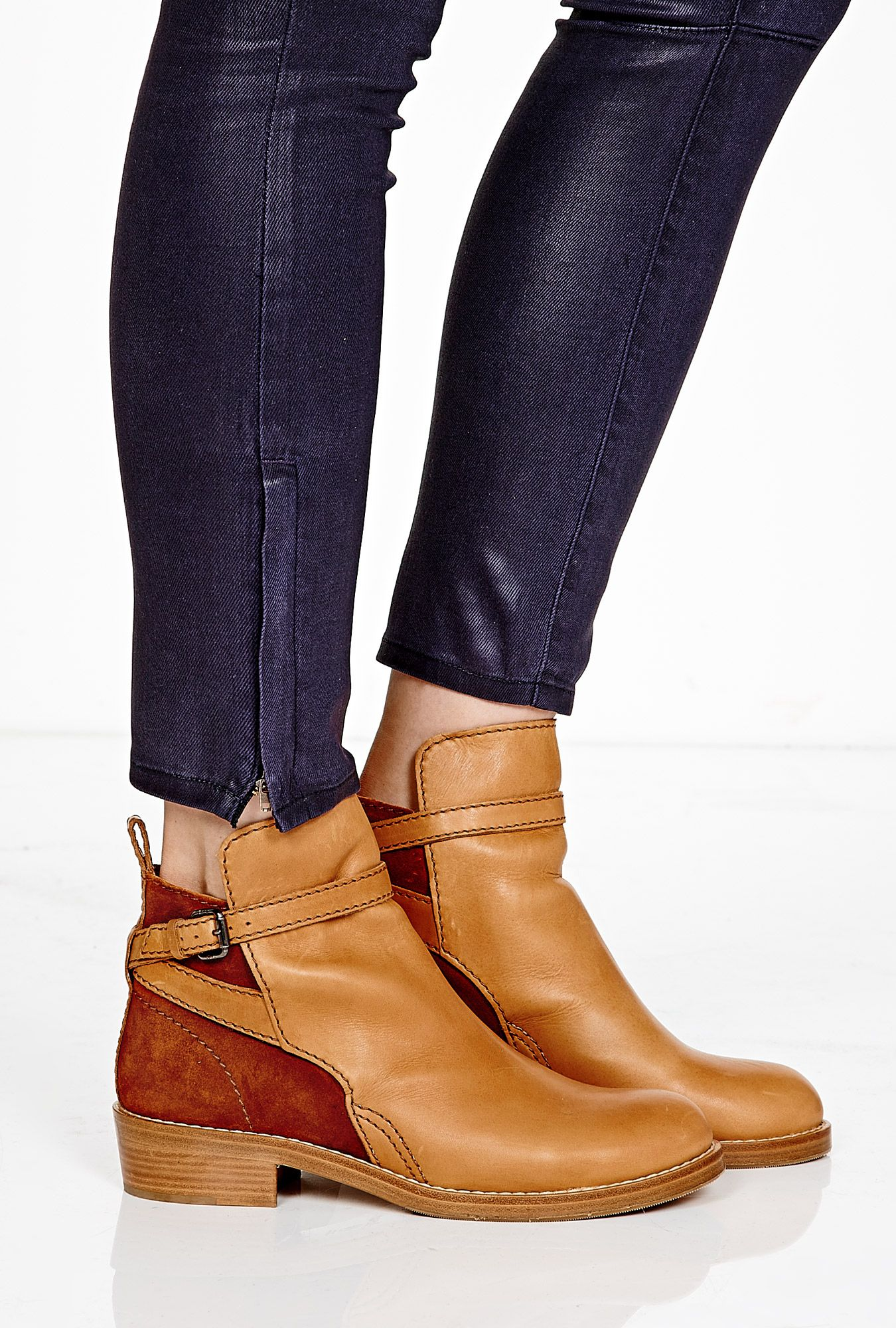Chestnut Clover Flat Ankle Boot by Acne