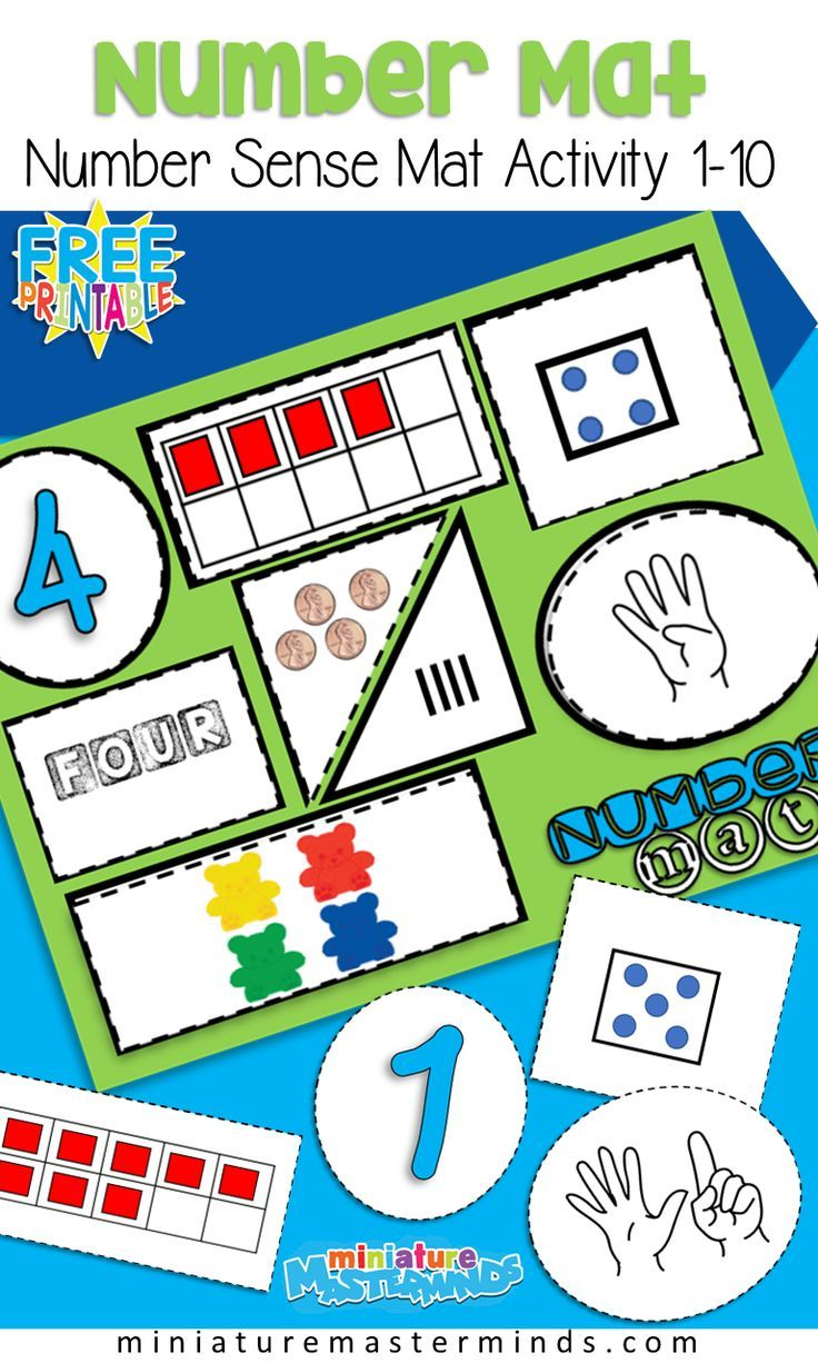 Free Printable Number Sense Number Mats From 1 To 10 Preschool And Kindergarten Numbers Kindergarten Math Activities Preschool Free Printable Numbers [ 1226 x 736 Pixel ]