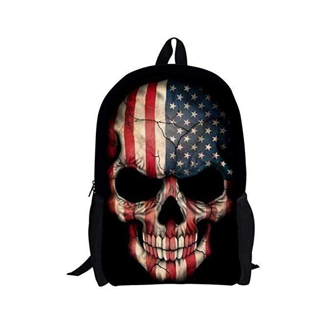 Punk Black Skull Backpack | RebelsMarket