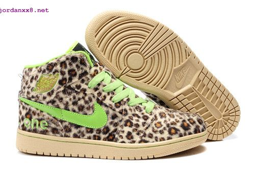 009dcaa00ac7 Cheetah Print Jordans 1 High Olympic Leopard Green Beige   •*• Shoes ...
