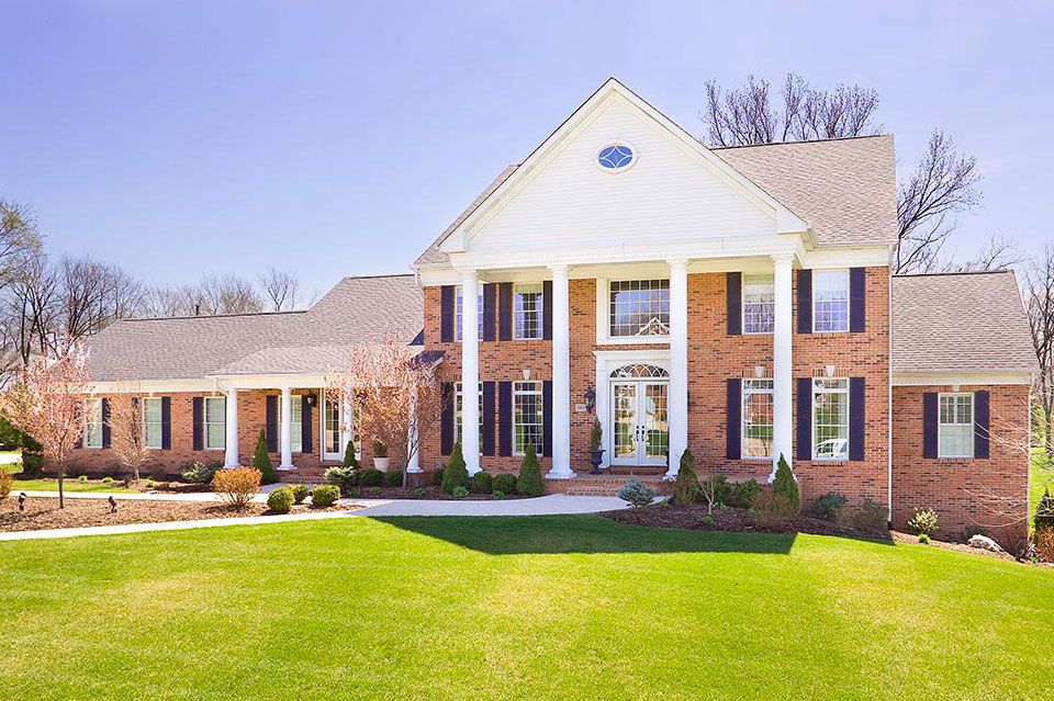 curb appeal brick colonial Related to