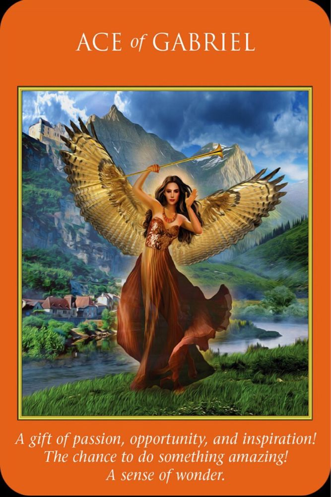 Archangel Power Tarot Cards Perspective: Ace Of Gabriel From The Archangel Power Tarot. Today's The