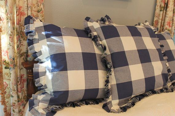 P Kaufmann Large Buffalo Check Euro Sham With Knife Pleats Or Ruffle Available In Several Colors Euro Shams European Decor European Home Decor