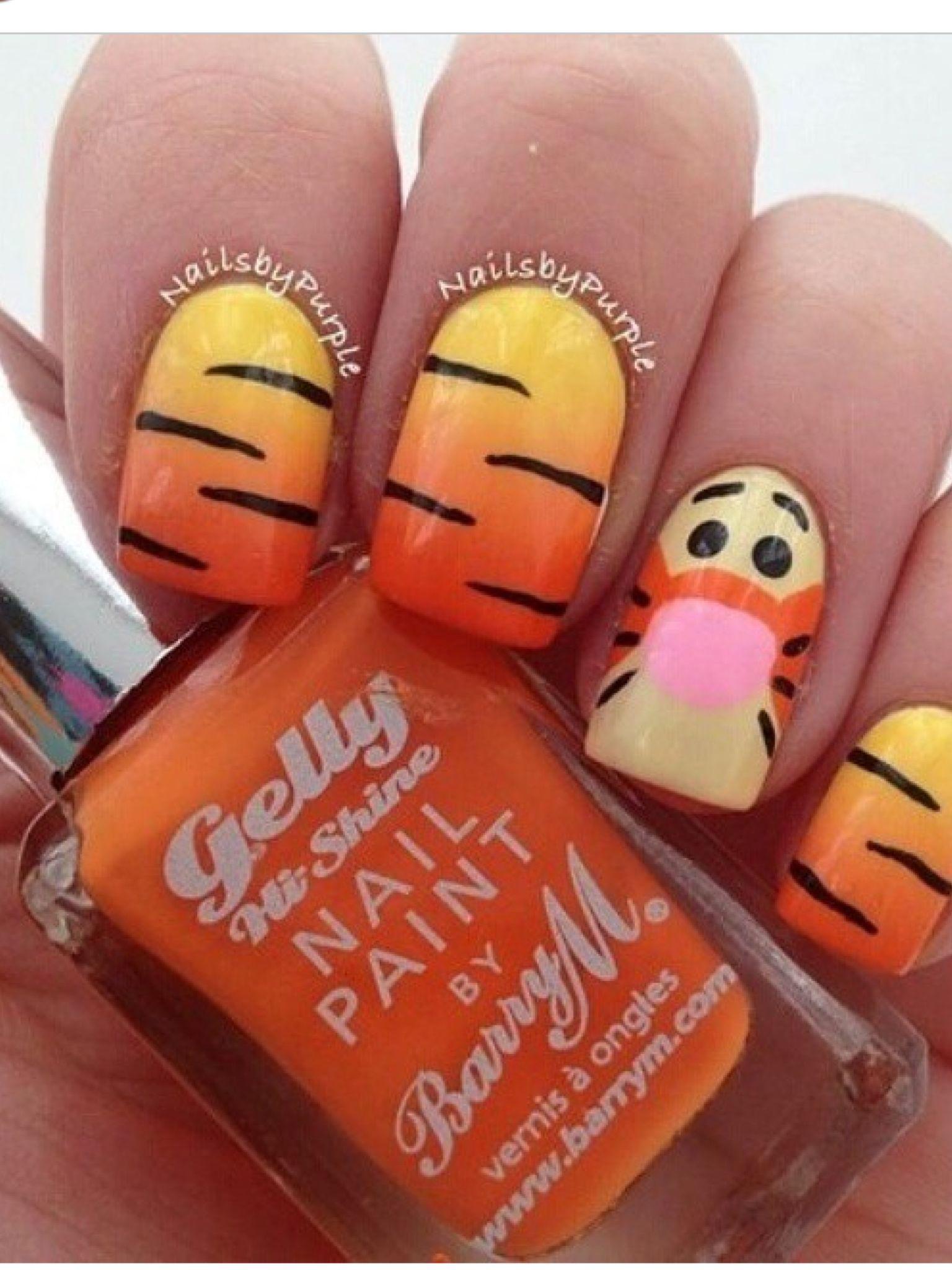 Tijgertje nagel | Nagellak | Pinterest | Disney nails, Manicure and ...