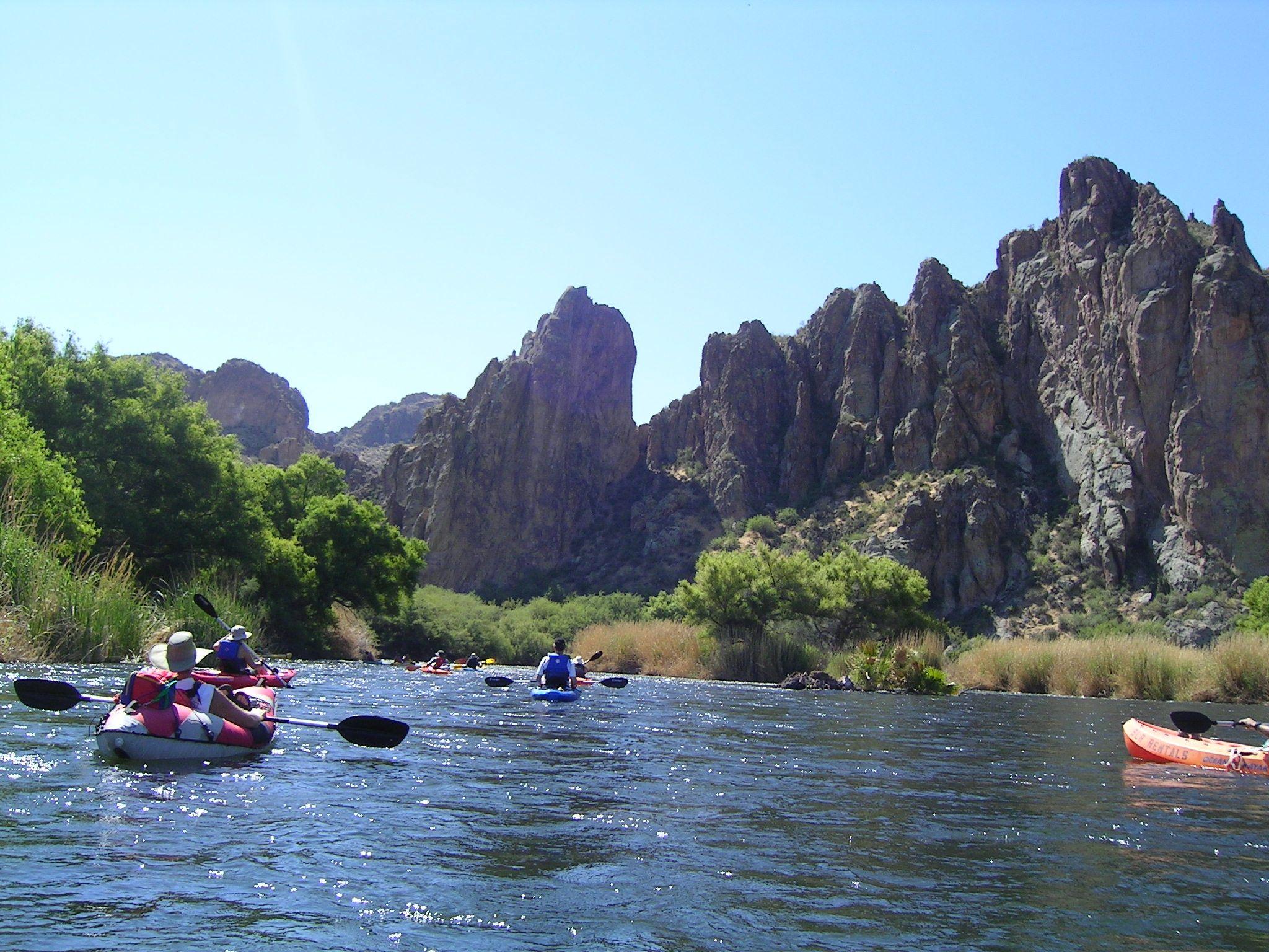 Kayaking the lower salt river an outdoor adventure for Fishing in phoenix arizona