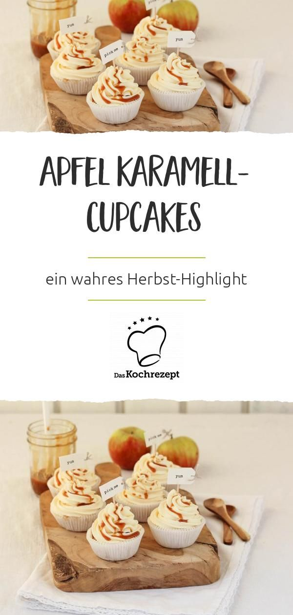 Apfel Karamell-Cupcakes