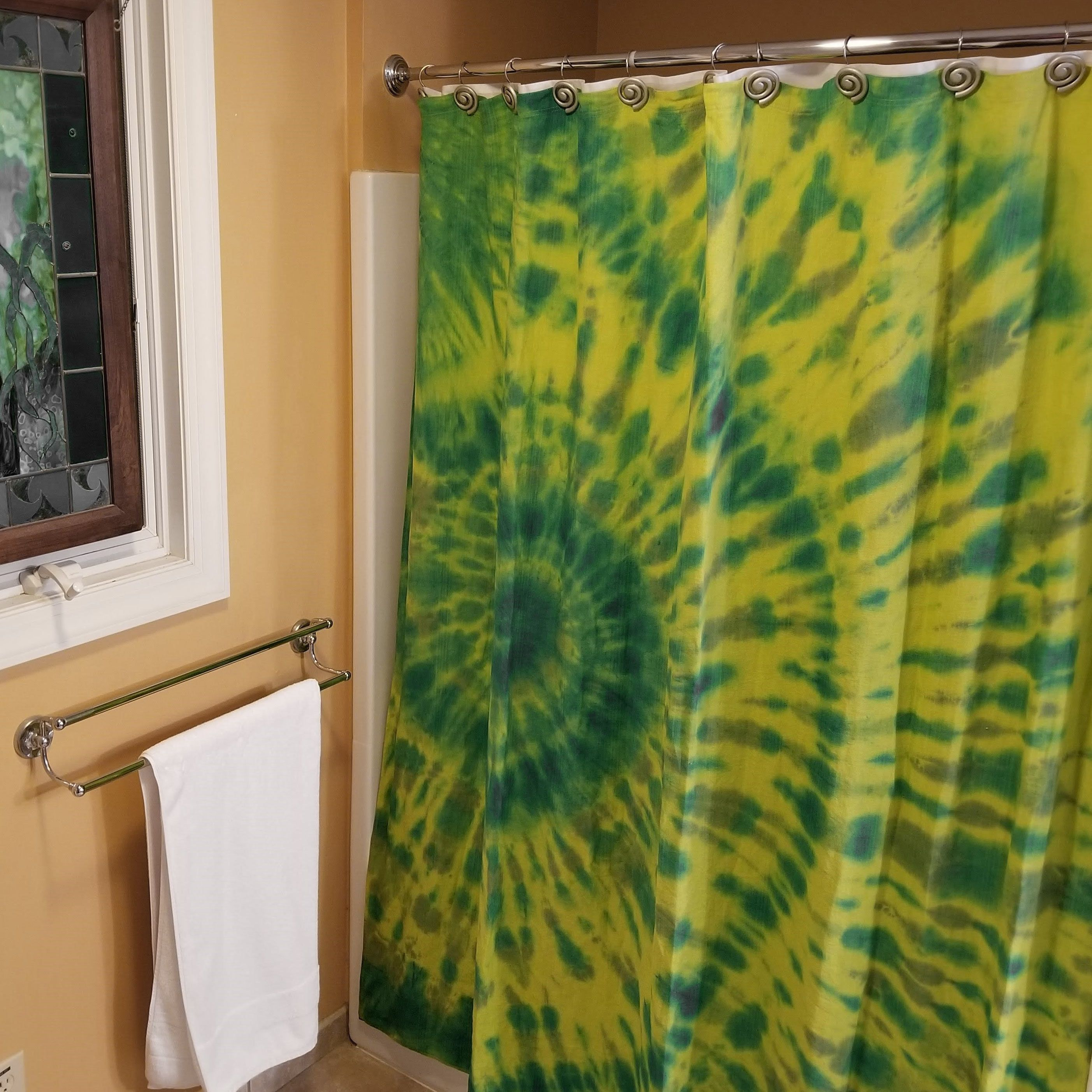 Wow A Rawganique Hemp Shower Curtain Gets A New Groovy Look