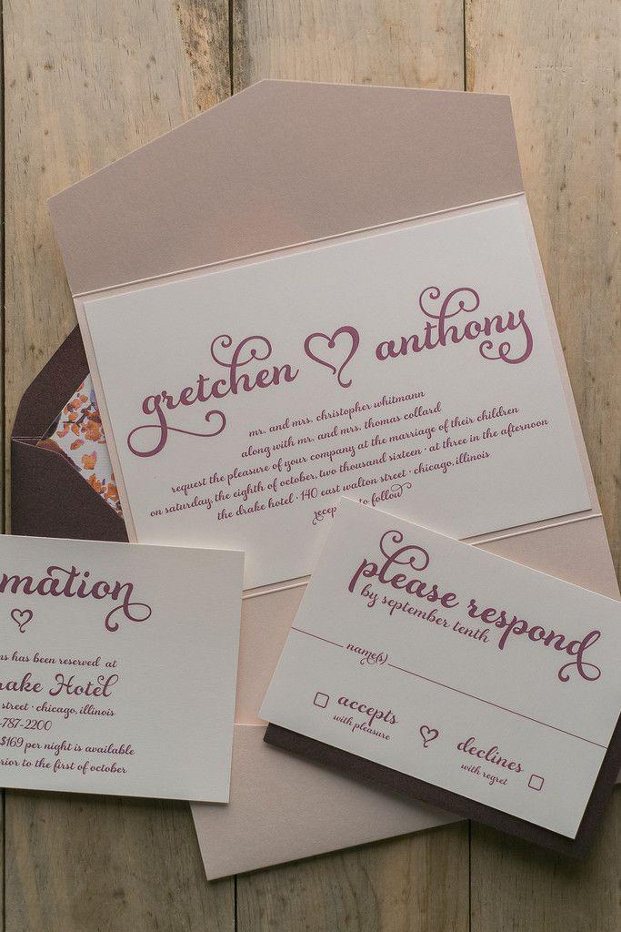 wedding stationery folders%0A GRETCHEN Suite Floral Pocket Folder Package  Fancy Wedding InvitationsTrendy