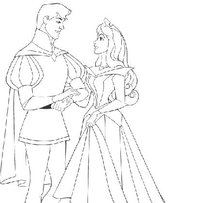 Coloriage aurore et son prince coloriage pinterest coloriage coloriage princesse et - Coloriage aurore disney ...