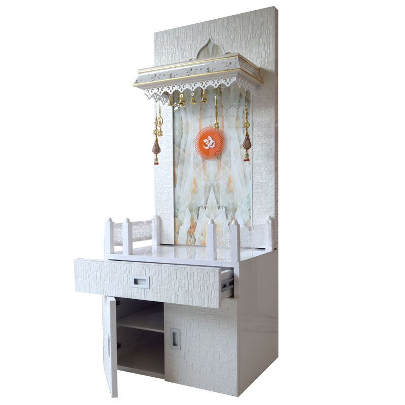 Latest Wooden Mandir 5 FT Height With On... | logo | Pinterest ...