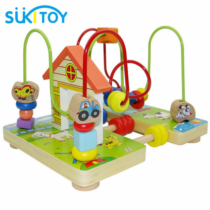 12d2b9e1f5ec9 Free Shipping  Buy Best SUKIToy Wooden Classic Baby Toy Wooden Toy ...