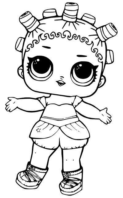 Waves Series 3 L O L Surprise Doll Coloring Page
