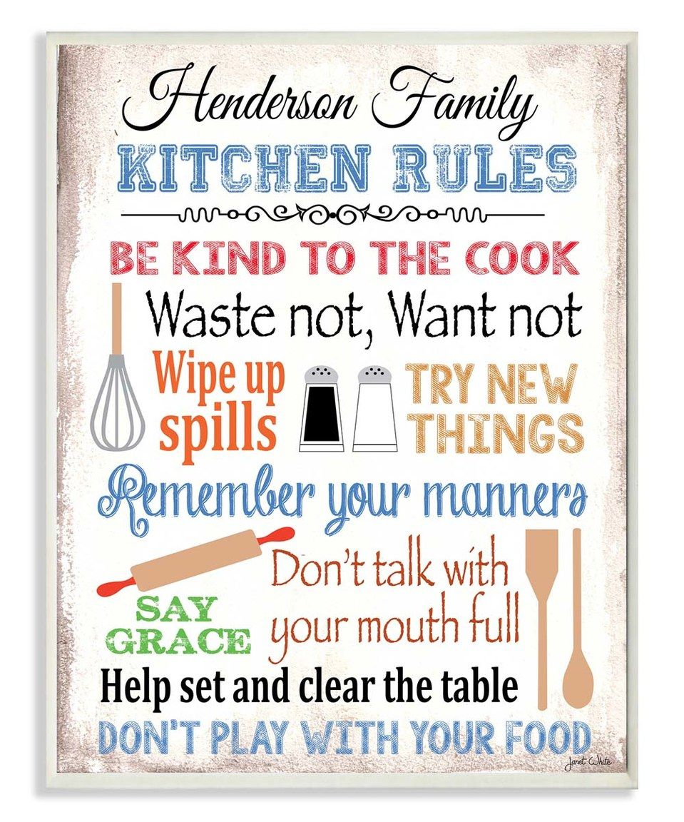 Another great find on zulily ukitchen rulesu personalized sign by