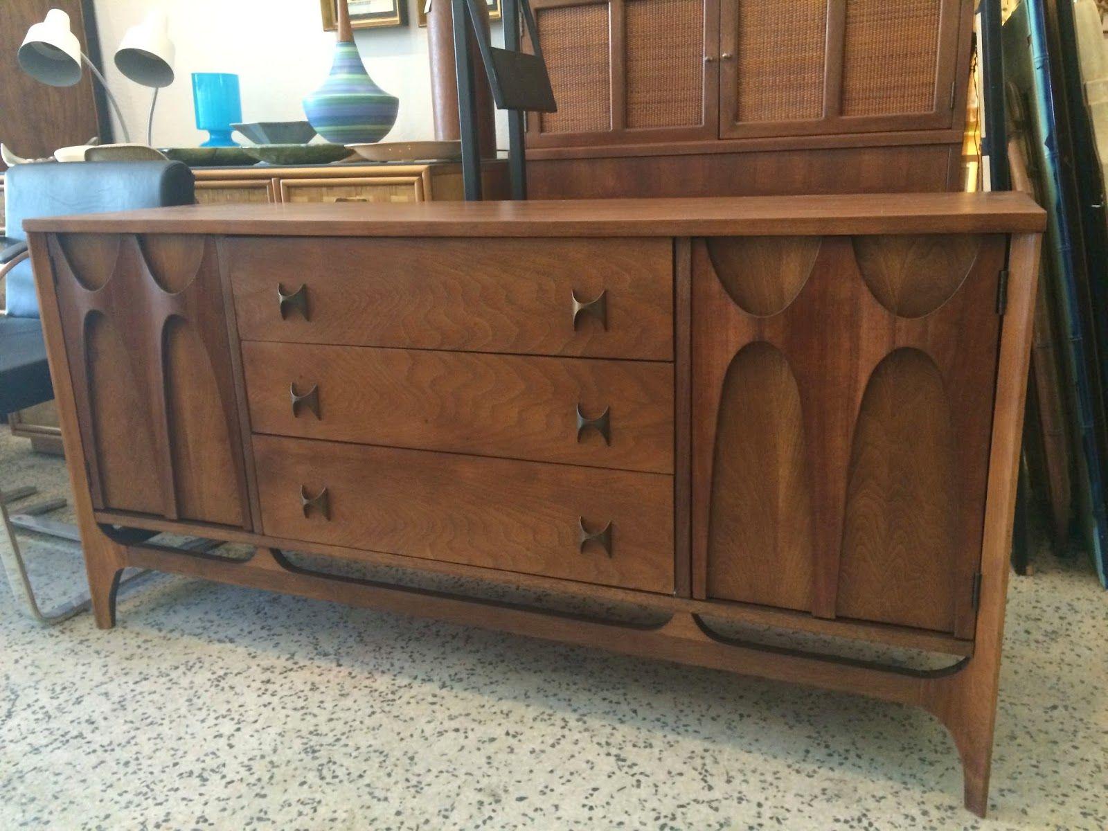 Brasilia Dresser Credenza By Broyhill  Mid Century Modern Furniture