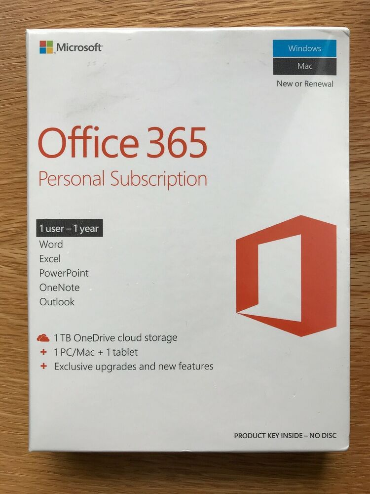 eBay Sponsored Microsoft Office 365 Personal (1 PC or Mac