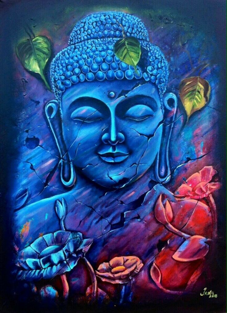 Image result for buddha paintings by indian artists Meditation - k che wei matt