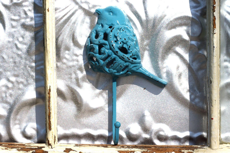 Bird hook Turquoise Blue/ Shabby Chic Coat by MichelleLisaTreasure, $13.00
