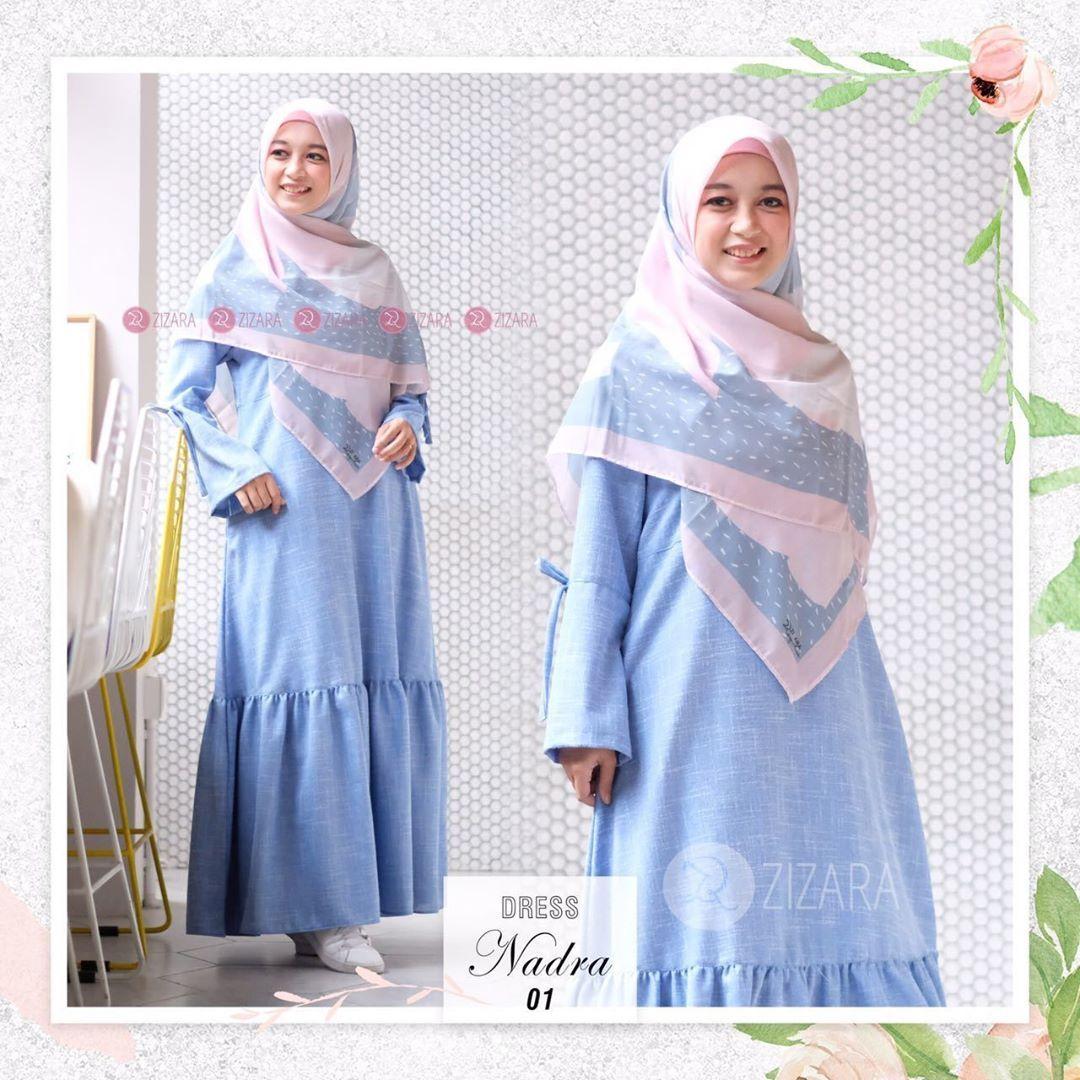 Gamis Zizara Nadra Dress 01 Baju Muslim Wanita Baju Muslimah Kini