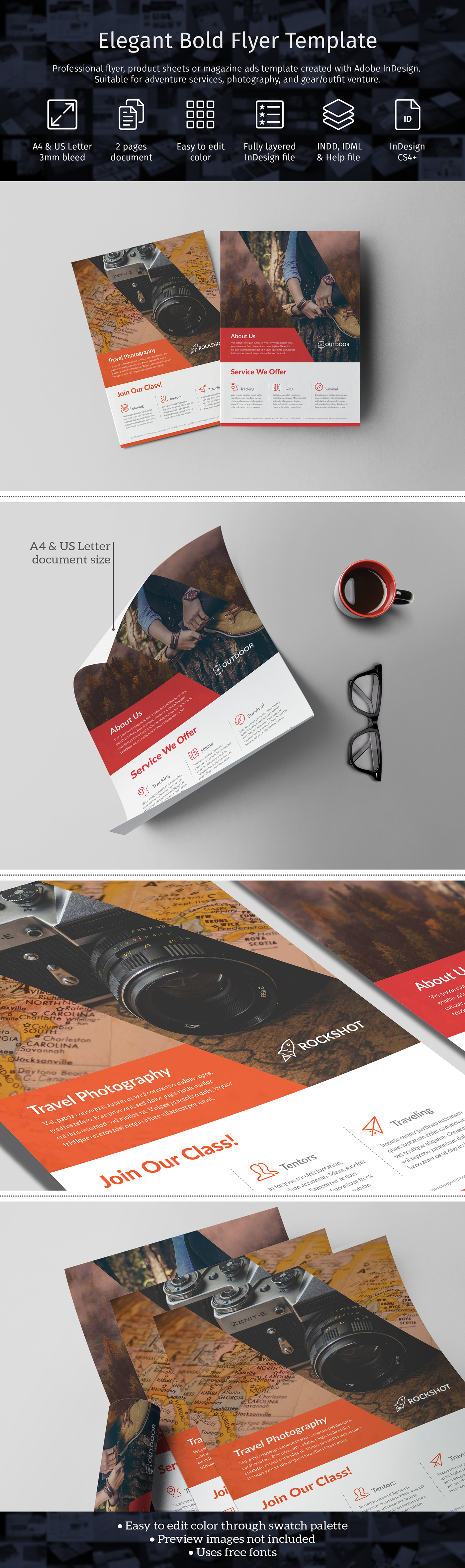 Professional flyer/product sheets/magazine ads template created with ...