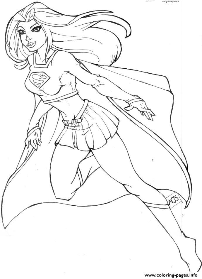 Print Supergirl 2 Coloring Pages Superhero Coloring Pages