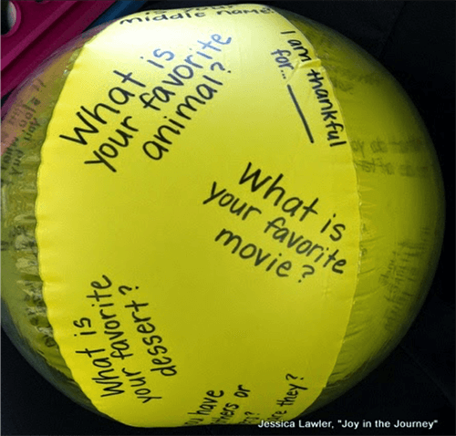 11 Back-to-school Activities: Get To Know You Beach Ball
