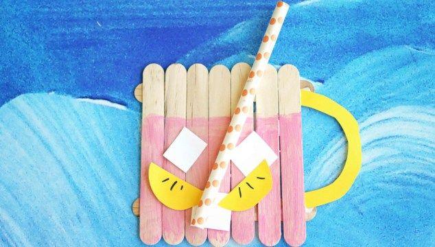 Popsicle Stick Pink Lemonade – Kid Craft