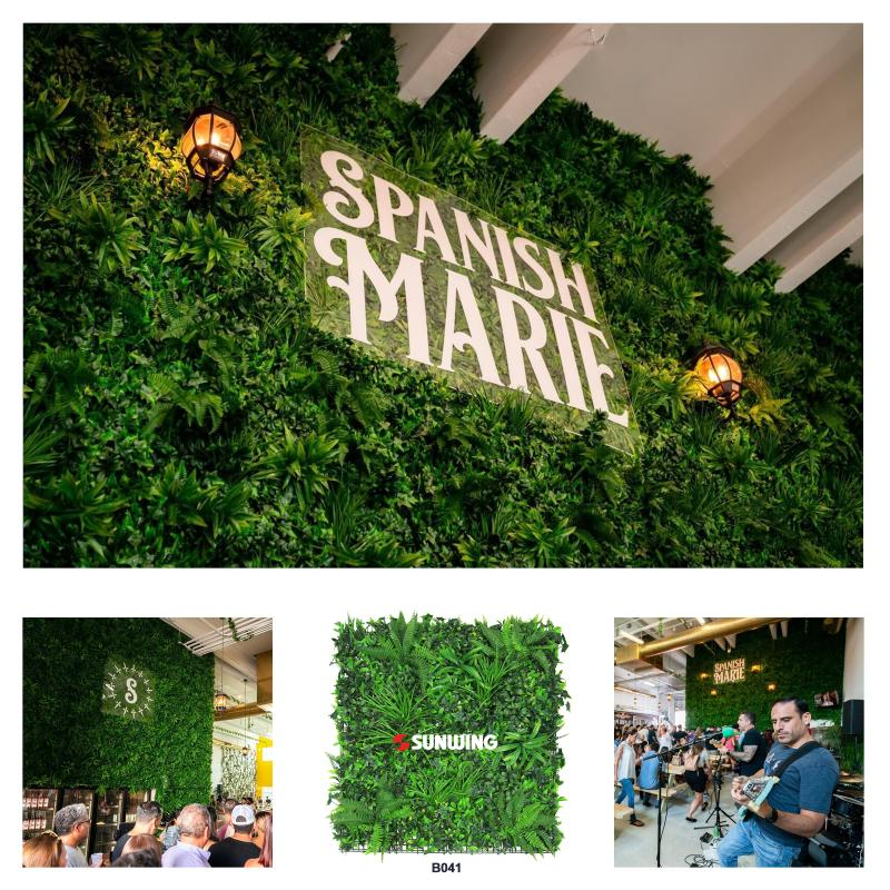 Sunwing Artificial Plants Supplier Manufacturer Wholesaler On Linkedin Congraduations On Successful Event Of Spanishmarie Check Our B041 Artificialverti Artificial Plants Event Backdrop Plant Wall